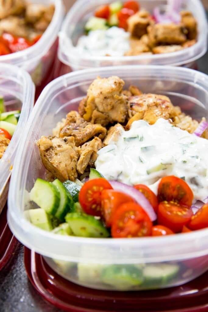 Greek Chicken Bowls Meal Prep Easy Recipe Yum Pinterest