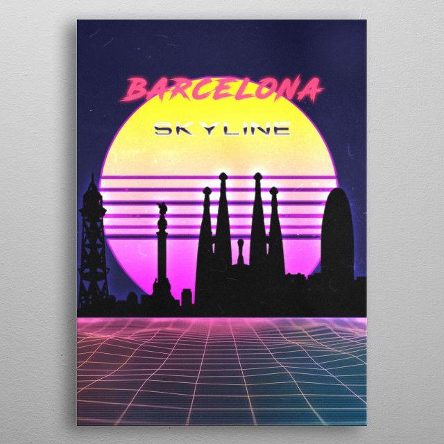 barcelona by FARKI15 DESIGN   metal posters - Displate   Displate thumbnail