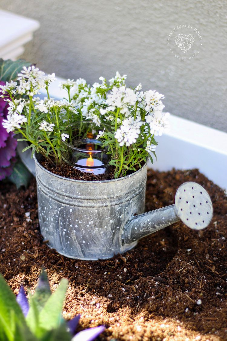 Watering Can Centerpiece Watering Can Centerpieces How To Make Small Garden Small Garden Tools