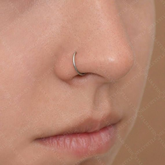 Nose Ring Surgical Steel Nose Piercing 18g Nose Piercing Hoop Nose Piercing Guys With Nose Piercings