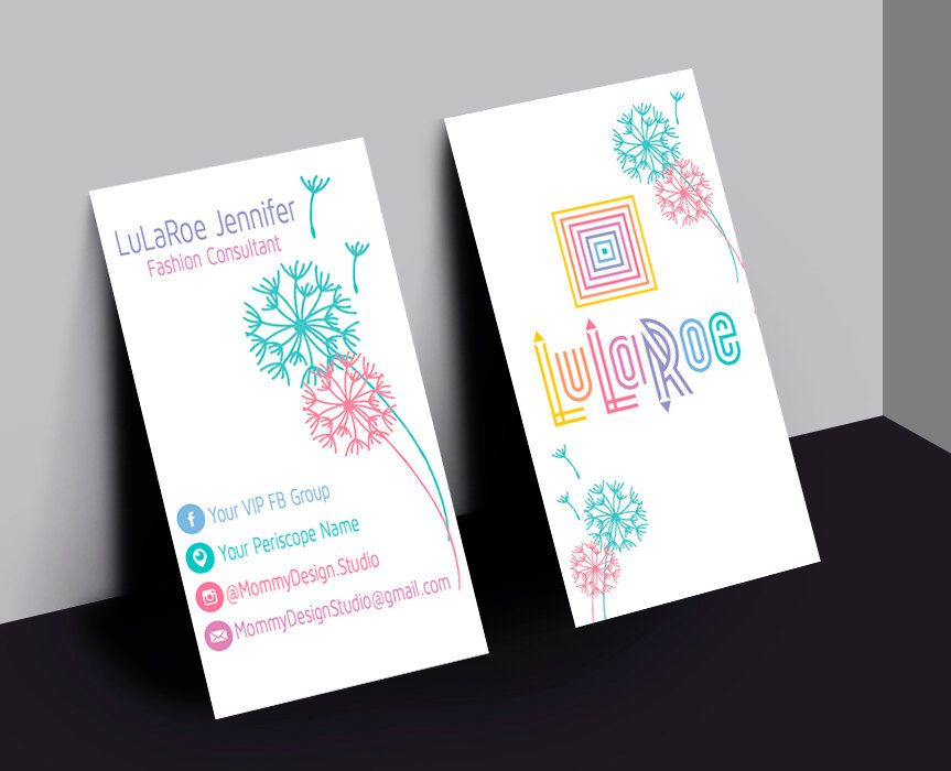 Lularoe business card home office compliant vertical for Etsy lularoe business cards