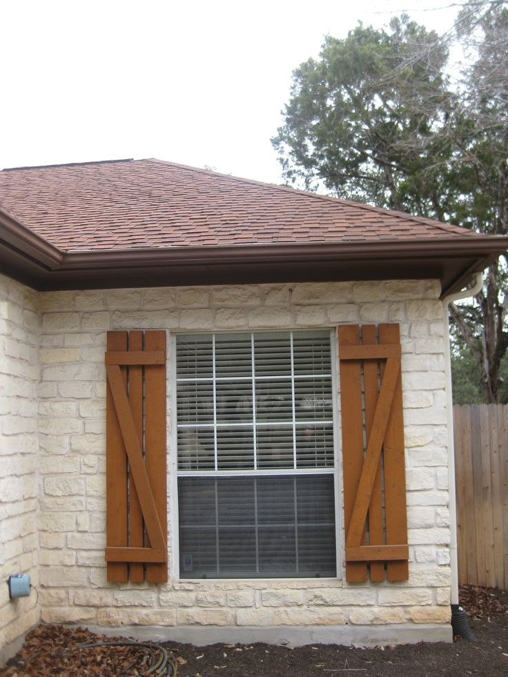 Cedar farmhouse shutters google search h o m e brick - Exterior wooden shutters for windows ...