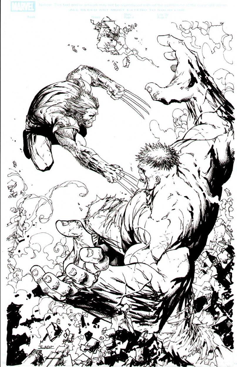Hulk Wolverine Tyler Kirkham In Jamo Jamkorart S Wolverine Hulk Commissions Comic Art Gallery Room 304271 Art Comic Art Hulk