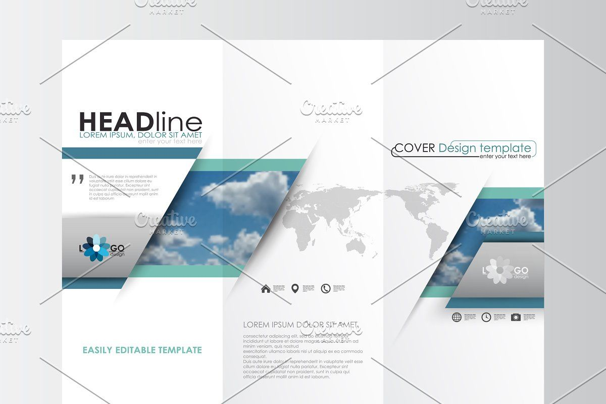 Blue Flat Design Templates In 2020 Template Design Website