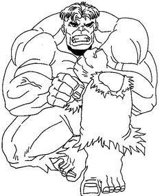 Resultado De Imagen Para Hulk Para Colorear Para Colorear