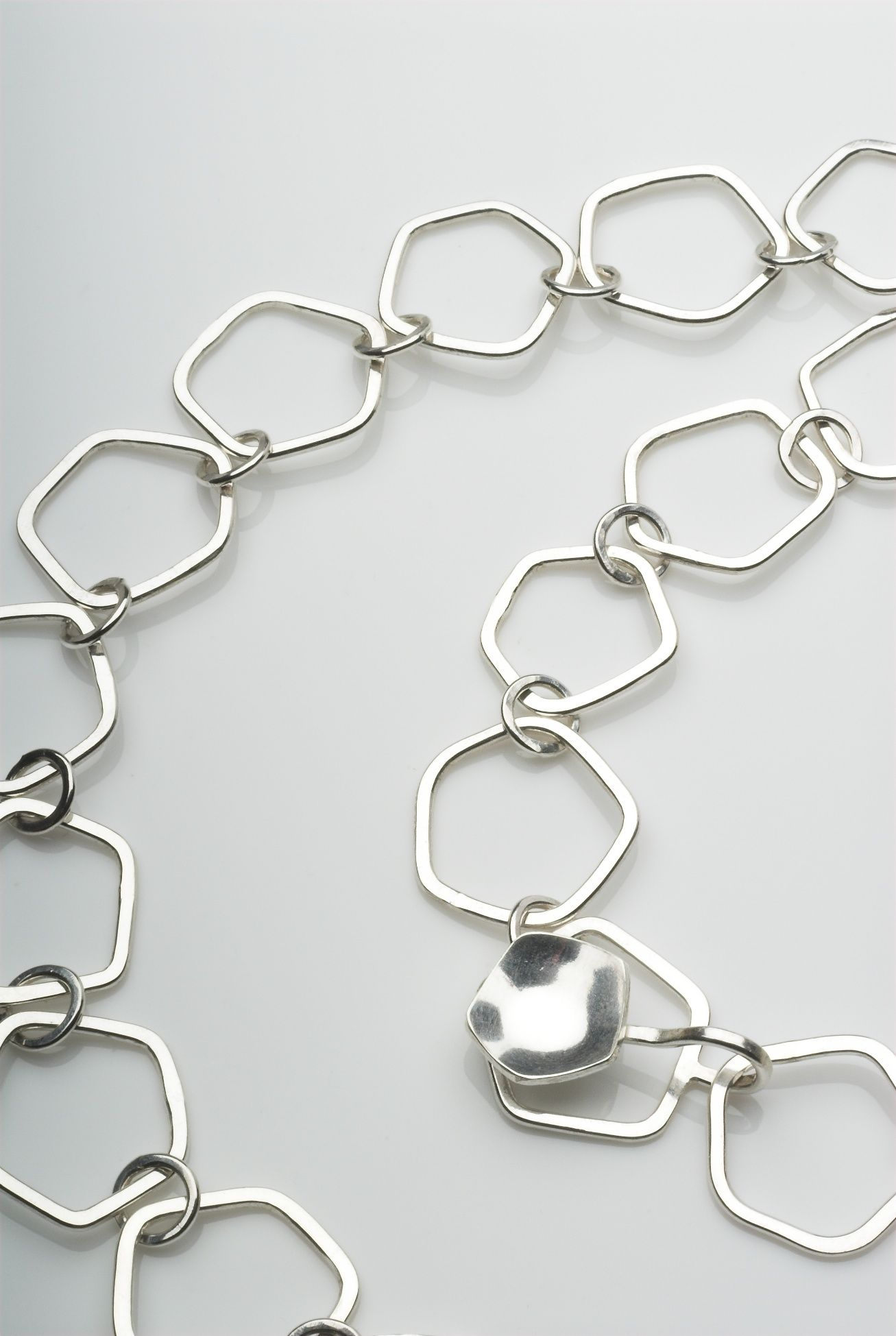 MICHELE WYCKOFF SMITH - UK: Pentagon shaped chain in sterling silver ...
