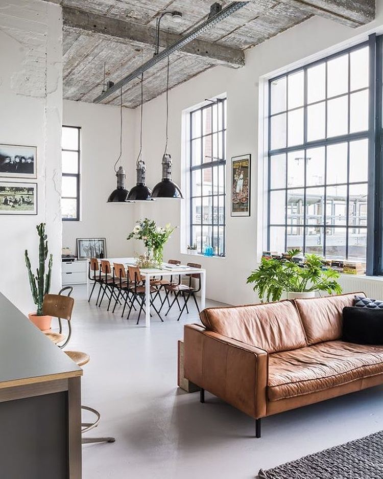 A white design used in industrial loft. #industrialdesign | Spaces ...