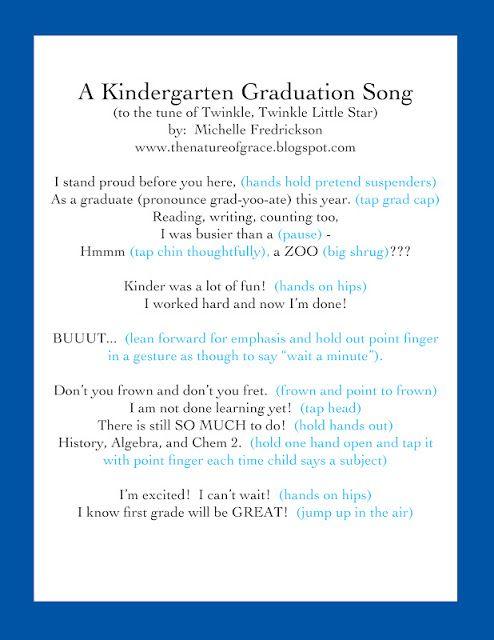 Cutest Little Kindergarten Graduation Ever! I want to do something - graduation program