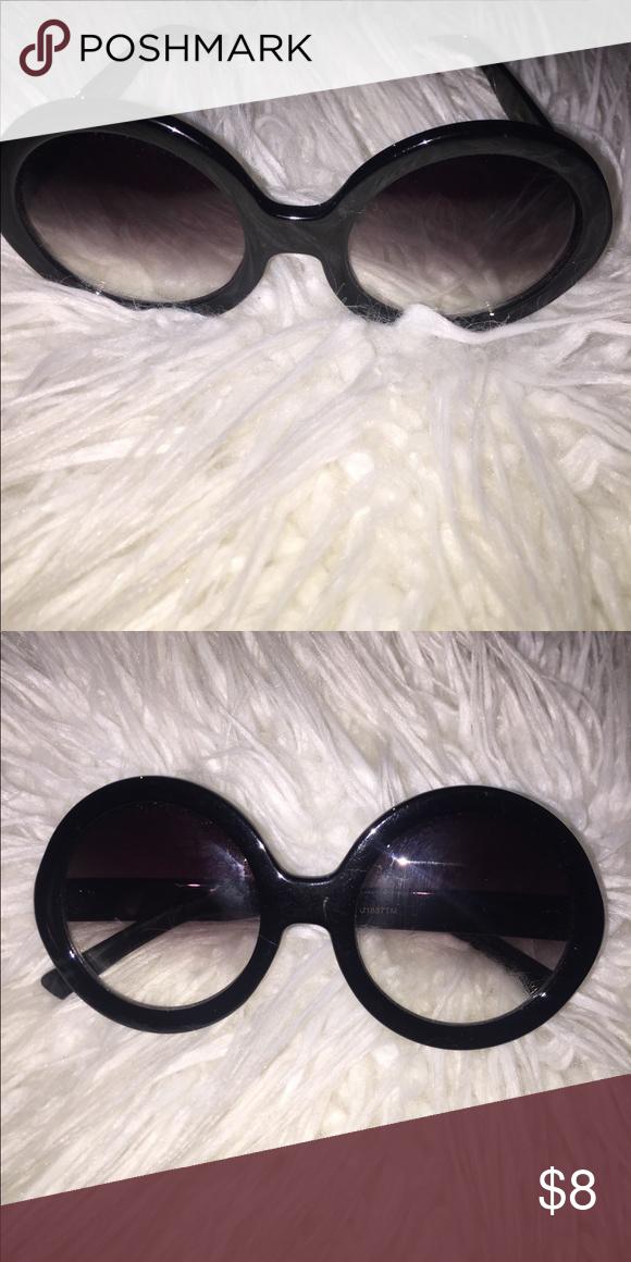 47ab4a420a5 Black Round Eye Sunglasses