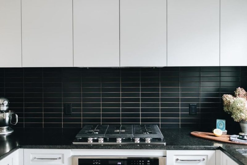 Matte Black Kitchen Backsplash Fireclay Tile Matte Black Kitchen Black Backsplash Trendy Kitchen Backsplash