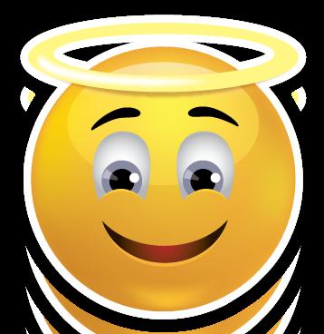 Emoji Faces Sweet Angel Face Emoji Sticker Smiley