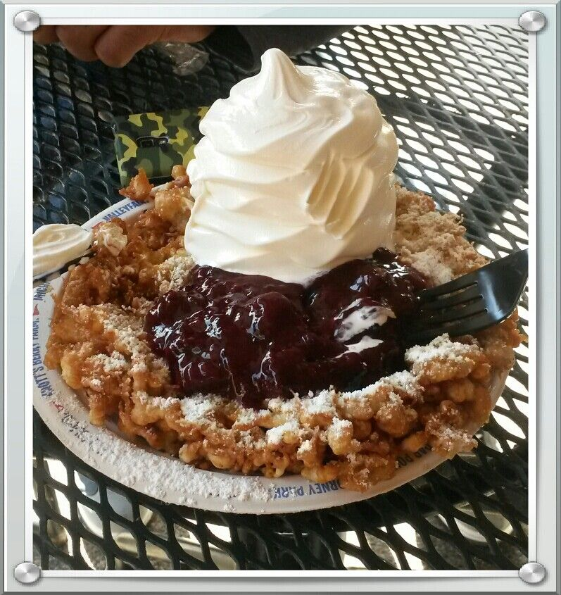 Knott's Berry Farm has the best Funnel Cakes EVER! This one was the ...