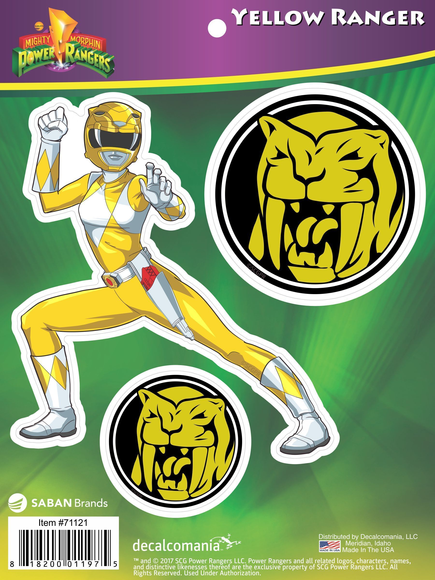 Mighty Morphin Power Rangers Yellow Ranger Decal Car Stickers ...