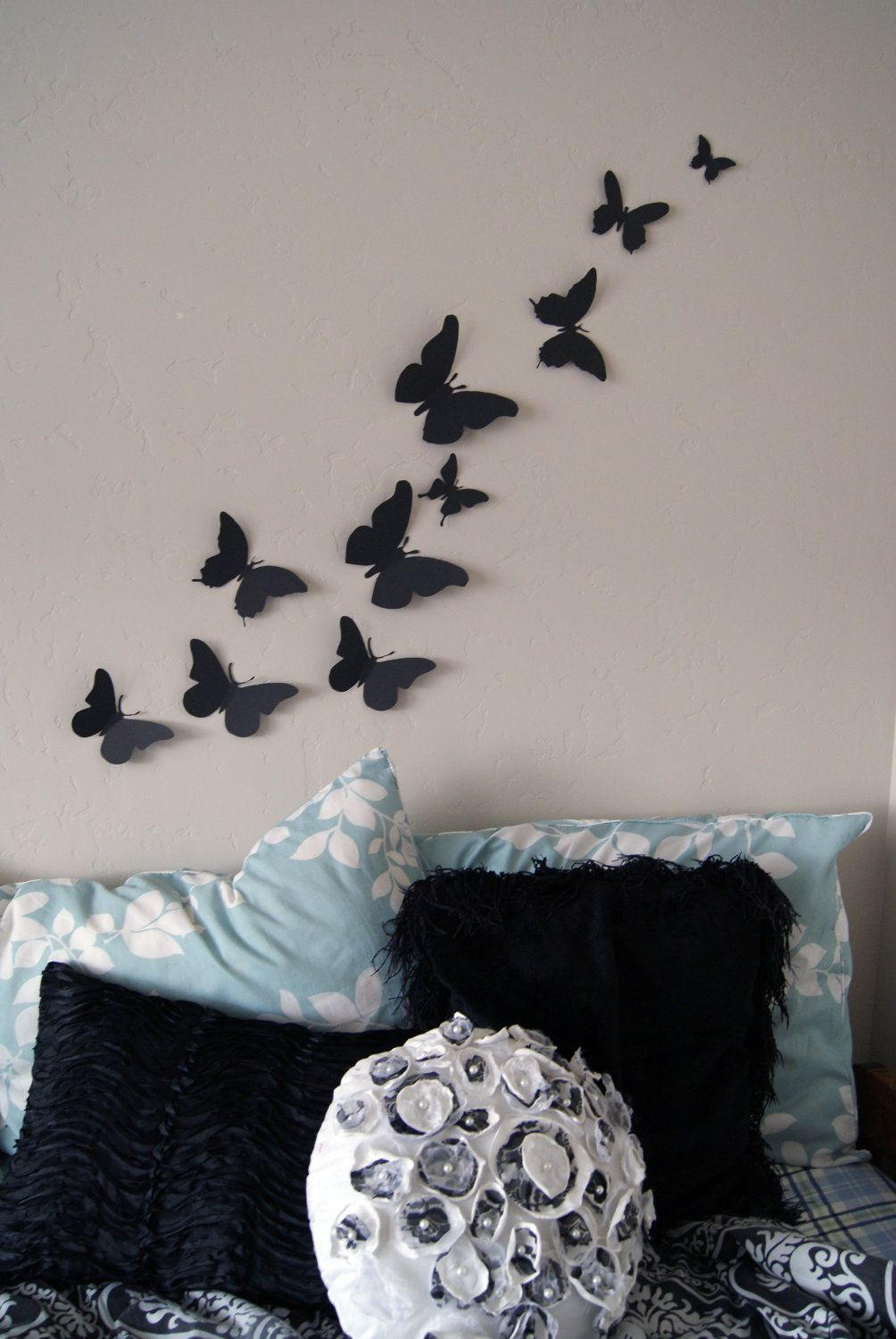 3d Butterfly Wall Decor Free Shipping 20 3d Butterfly Wall Art Circle Burst By Leeshay