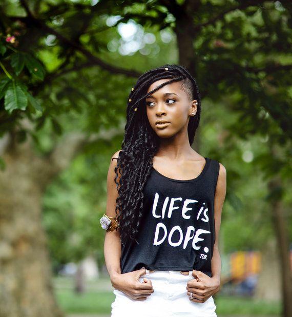 Life is Dope Flowy Tank by ThreeLittleBirdsTees on Etsy