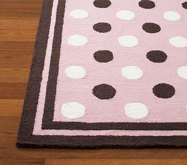 The Perfect Pink And Brown Nursery Polka Dot Rug Polka Dot