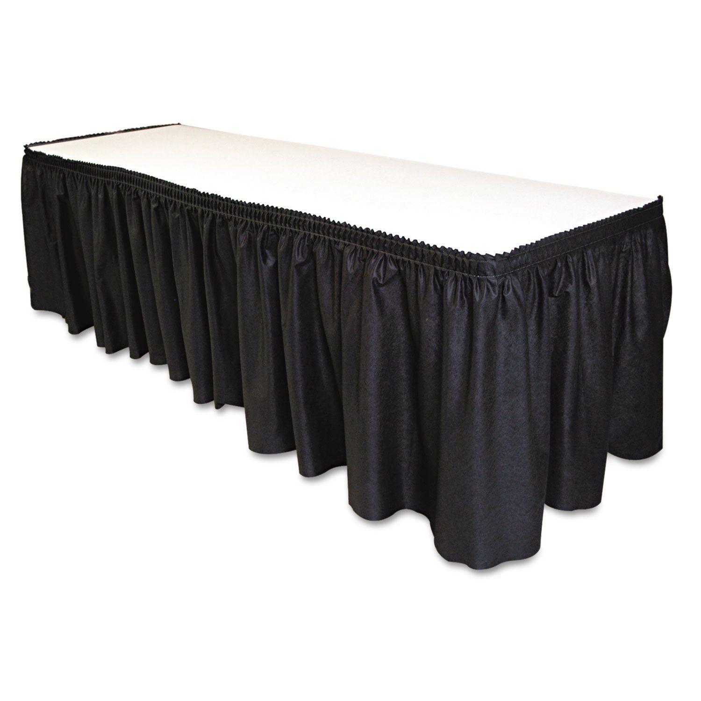 Table Set Linen Like Table Skirting 29 Quot Quot X 14ft Black