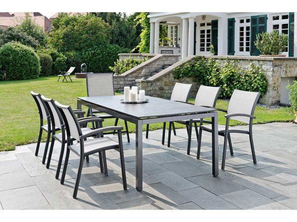 Stern Gartentisch/Tischsystem Aluminium anthrazit