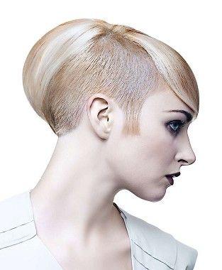short blonde straight coloured multitonal shaved sides