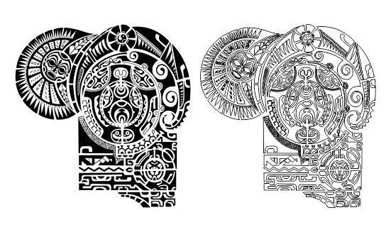 The Rock Dwayne Johnson Maori Polynesian Tattoo Stencil Template