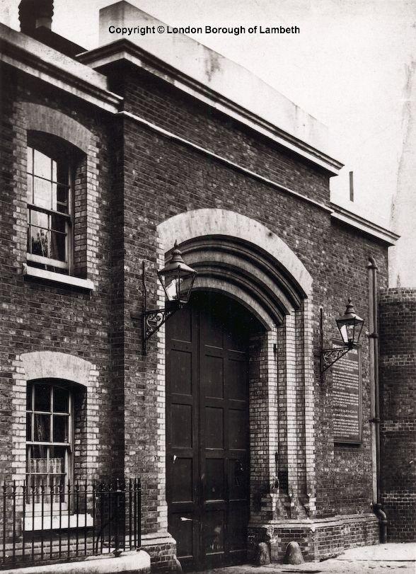 Brixton Prison Entrance, Brixton Hill 1900   Vincent in Brixton