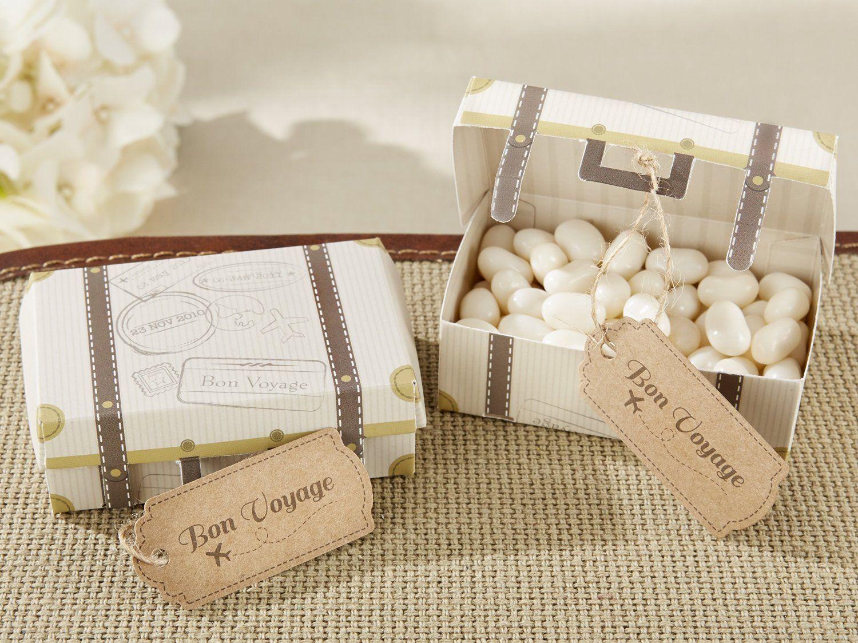 Amazon Com Kate Aspen Bon Voyage Vintage Suitcase Favor Box Set Of 24 Travel Theme Bridal Shower Travel Theme Wedding Wedding Favor Boxes