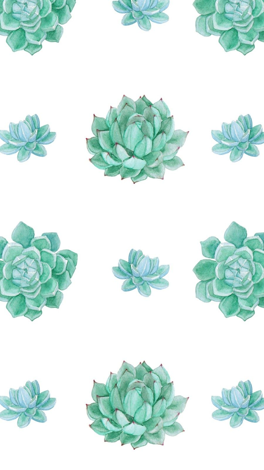 Free Desktop Wallpapers Watercolor Wallpaper Phone Succulents