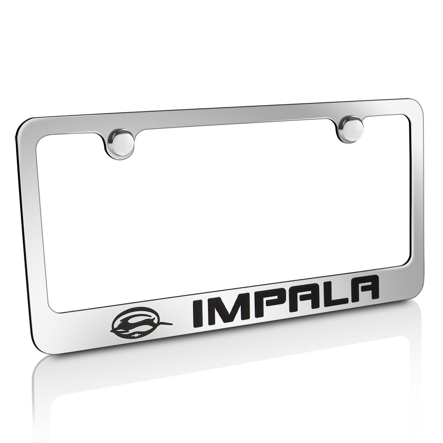 Chevrolet Impala Chrome Metal License Frame   EL-9030796   $27.45 ...