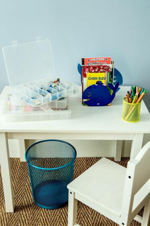 Bureau Enfant Chambre D Enfant Rangement On Range Tout Pot A Crayon Poubelle Rangement Chambre Enfant
