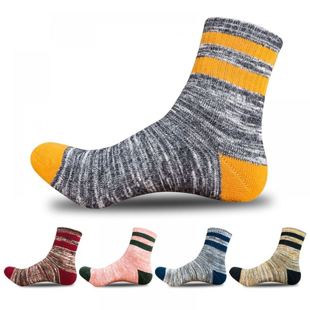 Autumn Thick Cotton Men's Socks 5 Pairs Set in 2020 Mens