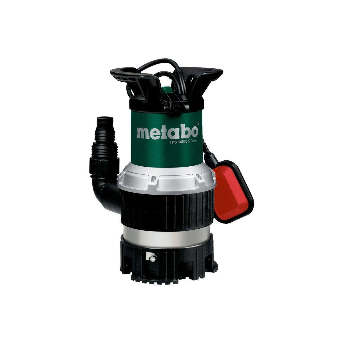 Pompe D Evacuation Eau Claire Et Chargee Metabo Tps 14000 S Combi 14000 L H Reservoir Eau Pompe Pompe Immergee