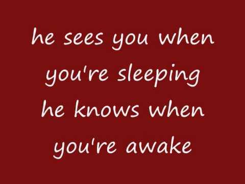 Mariah Carey - Santa Claus Is Comin' To Town (lyrics on screen) - YouTube | Lyrics, Mariah carey ...