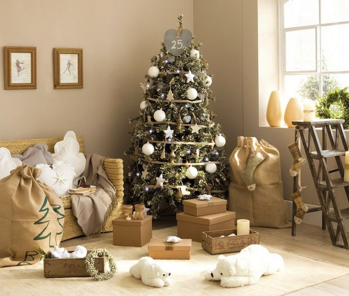 Adorable Vintage Christmas Accessories in Soft Tones  Fancy Neutral - christmas decorating ideas