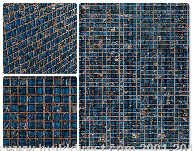 BuildDirect®: Glass Mosaic Glass Mosaic   Iridescent Series   Blue