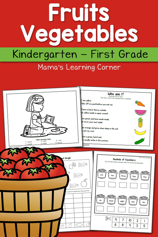 Fruit And Vegetable Worksheets For Kindergarten And First Grade Kindergarten Worksheets Kindergarten Worksheets Printable First Grade Science [ 1500 x 1000 Pixel ]