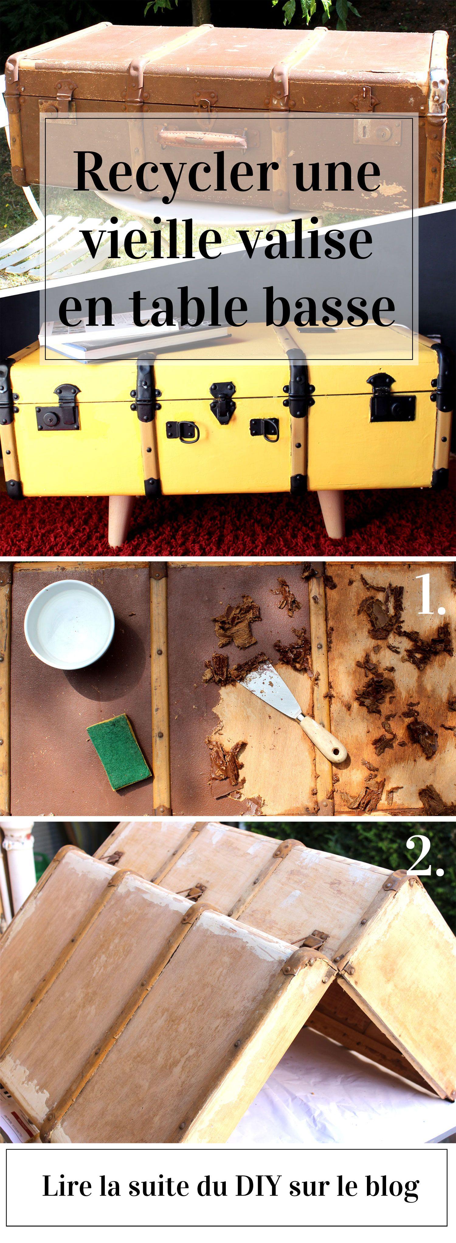 diy recyclage d 39 une vieille valise en table basse vintage deco table valise deco. Black Bedroom Furniture Sets. Home Design Ideas
