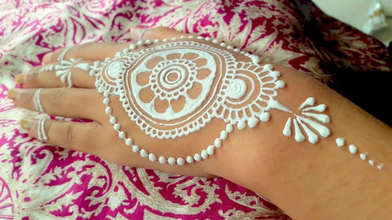 Henna Mehndi Edinburgh : ᴴᴰ beautiful white henna hands best simple