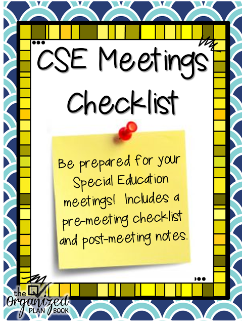 Cse meeting checklist special education meeting organization best cse meeting checklist special education meeting organization spiritdancerdesigns Images