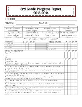 Third Grade Common Core Progress Report Report Card Standards Based Report Cards Third Grade Common Core Report Card Comments