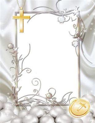 El Dorado Blue Card >> Marco para primera comunion, confirma o bautismo | Photo Frames | catequesis | Marco para ...