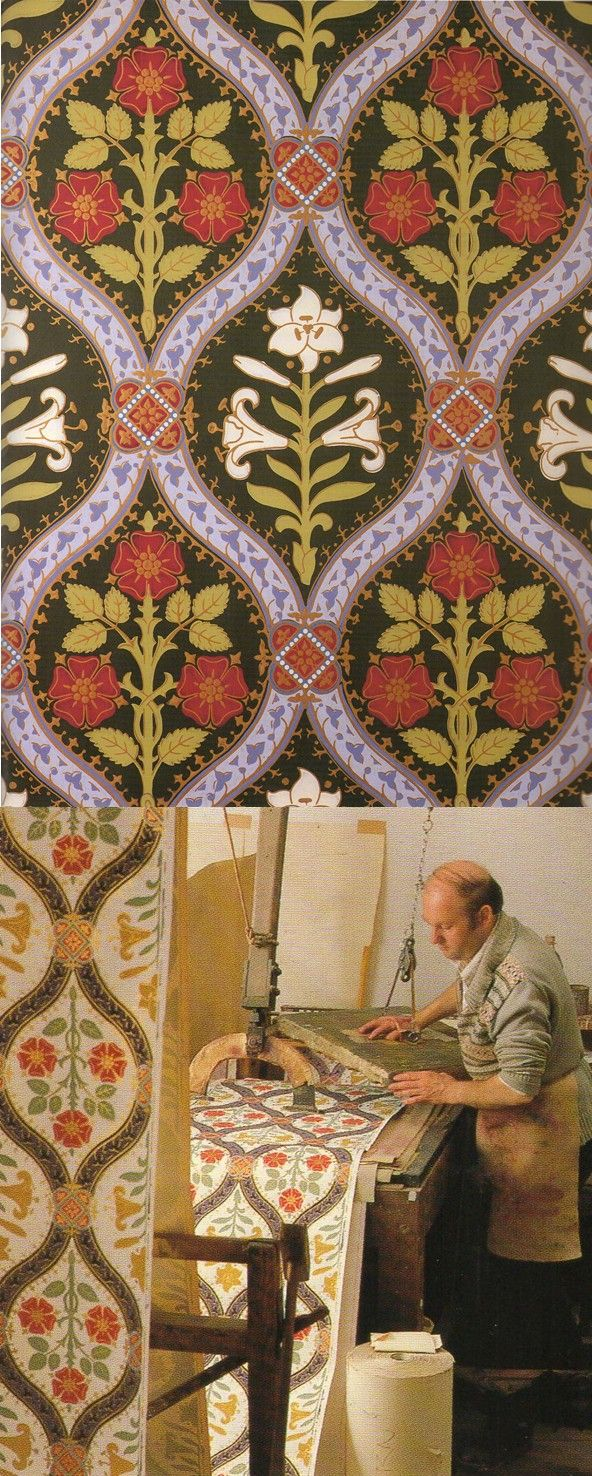 The making of A.W.N Pugin's 'Gothic Lily' wallpaper. ~Splendor