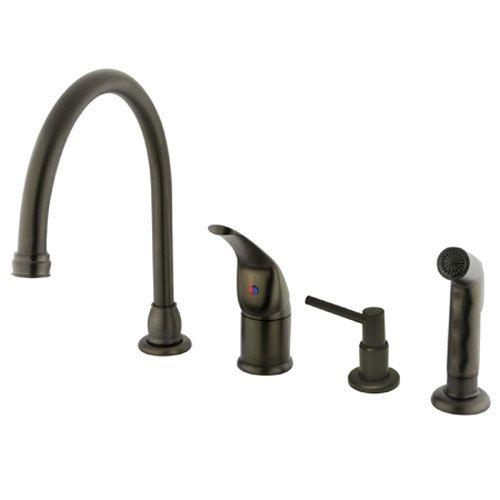 Elements of Design Oil Rubbed Bronze Single Lever Kitchen Faucet ...