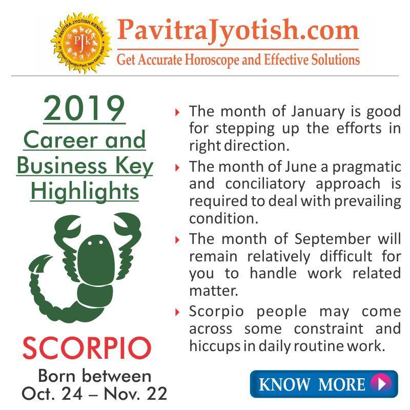 2019 monthly horoscope scorpio born 24 november