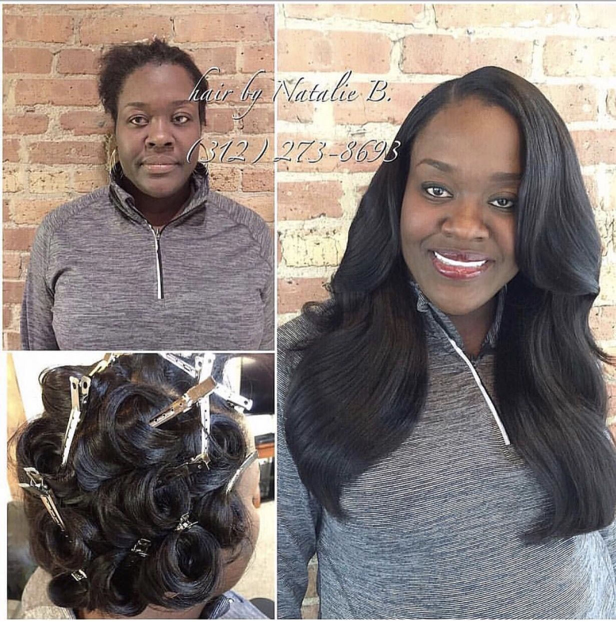 Before After Check Out This Traditional Sew In Hair Weave That