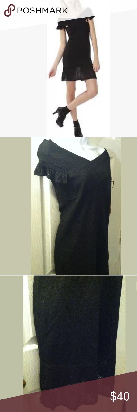 New Zac Posen Bodycon Knit Dress Sweater Black Knitted Bodycon Dress Bodycon Fashion Knit Dress [ 1740 x 580 Pixel ]