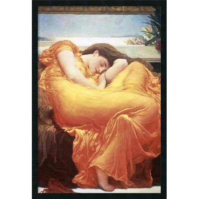 Amanti Art 'Flaming June' by Lord Frederic Leighton Framed Painting Print