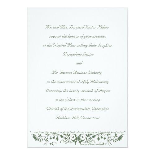 Catholic Wedding Set Invitation Template Cc Zazzle Com