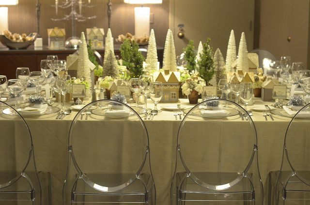 Laurie Cinotto Christmas Village Table Centerpiece Beautiful Table Settings Christmas Table Beautiful Table