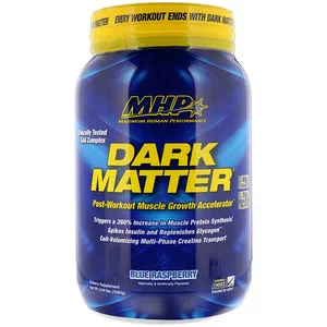 Mhp Dark Matter Post Workout Muscle Growth Accelerator Blue Raspberry 3 44 Lbs 1560 G Discontinued Item Muscle Growth Post Workout Dark Matter