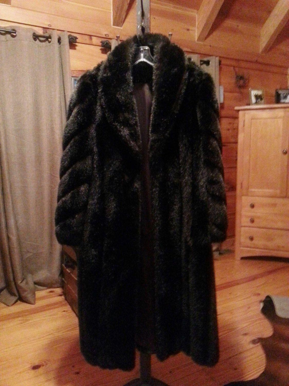 Vintage Women's Full Length Faux Fur Brown Mink - http://goo.gl/R0rCQQ